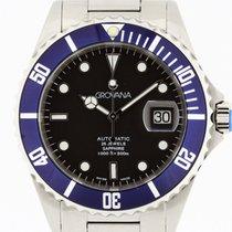 Grovana Automatic Diver BLUE Bezel NEW 2 Years Warranty Swiss...