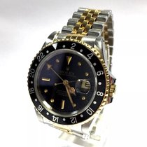 Rolex Oyster Perpetual Gmt-master 18k Gold & Ss Men's...