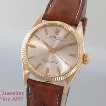 Rolex Oyster Perpetual Cal. 1130 - 14K/585 Gelbgold/Lederband