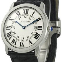Cartier W6700255 Ronde Solo de Cartier Men's Black Leather...