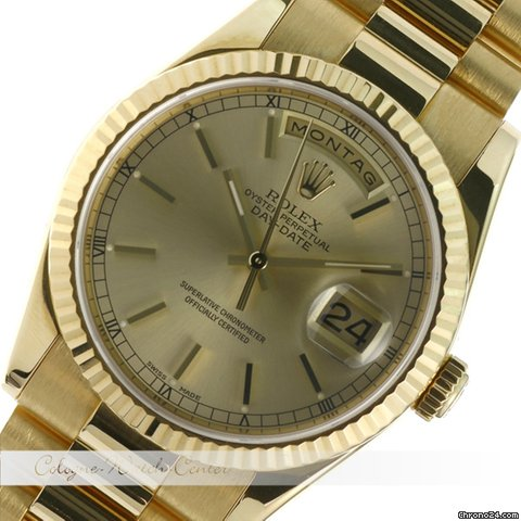 Rolex Day Date Gelbgold 18038