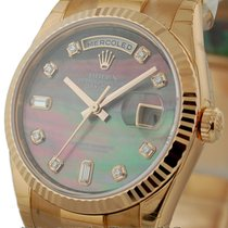 Rolex Day-Date President Tahitian Mother Of Pearl Diamond Dial...