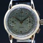 Nivada Fama Handaufzug Chronograph vergoldet ca.1950