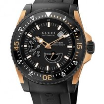 Gucci Diver XL Automatic Black / Pink Gold & Black PVD...