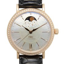 IWC Portofino 18 K Rose Gold With Diamonds White Automatic...