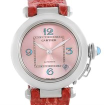 Cartier Pasha C Medium Pink Blue Dial Limited Edition Watch...