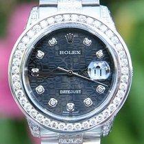 Rolex Datejust Mens 36mm Diamond President Band 3.5ct.