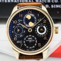 IWC IW502119 Portuguese Perpetual Calendar 18K Rose Gold Black...