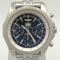 Breitling For Bentley 6.75 Stainless Steel Black Dial A44362...