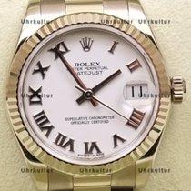 Rolex Datejust, Ref. 178279 - weiß römisch ZB/ Präsidentband