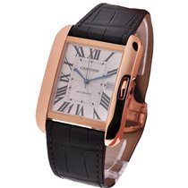 Cartier W5310004 Tank Anglaise Large in Rose Gold - on Brown...