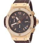 Hublot Big Bang Cappuccino 18K Pink Gold Diamond Bezel Watch