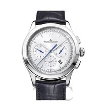 Jaeger-LeCoultre Master Chronograph Stainless Steel Silver/Lea...