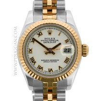 Rolex ladies stainless steel and 18k rose gold Datejust