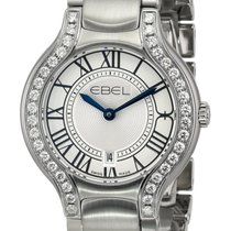 Ebel Beluga Stainless Steel & Diamond Womens Luxury Watch...