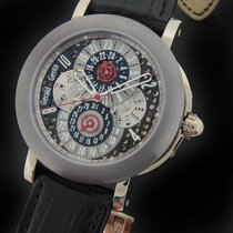Gérald Genta White gold and Tantalum Perpetual Calendar GMT