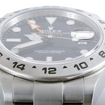 Rolex Mens SS 216570 Explorer II - Black Dial - 42MM