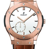 Hublot Classic Fusion King Gold White Shiny Dial 42mm