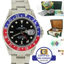 Rolex GMT-Master II Pepsi Red Blue Stainless 16710 40mm Watch