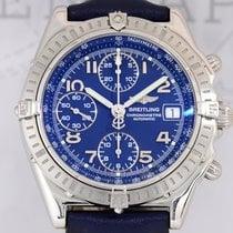 Breitling Automatic Chronomat blue Stahl Lederband Top...