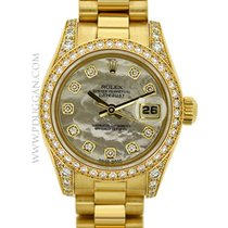 Rolex 18k yellow gold lady President