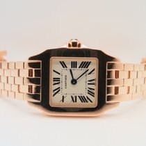 Cartier Santos Demoiselle Lady 18k Rose Gold 20mm Ref.  W25073X9