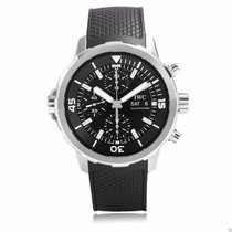 IWC IW376803 Aquatimer Chronograph 44mm Black Dial Black Rubber