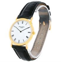 Patek Philippe Calatrava 18k Yellow Gold Watch 3520 Box Papers