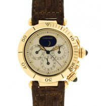 Cartier Pasha Triple Time Zone Moonphase Yellow Gold, 39mm