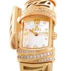 Ebel 18K Yellow Gold and Diamond Quartz Bangle Watch