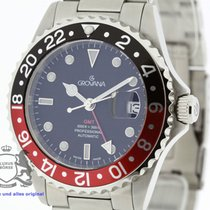 Grovana Swiss Automatic GMT Diver Watch Coke Bezel NEW 2Y Full...