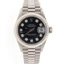 Rolex Datejust Ladies Original Diamond Dial White Gold Watch...