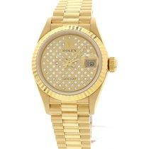 Rolex Ladies Rolex Datejust 18K Yellow Gold and Diamond Watch...