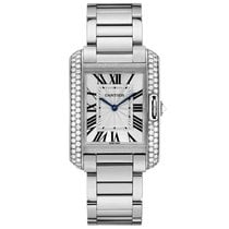 Cartier Tank Anglaise Quartz Mens Watch Ref WT100028