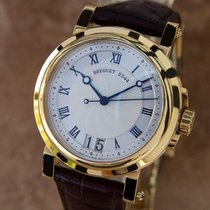 Breguet Mens Marine Automatic Big Date 18k Solid Yellow Gold...
