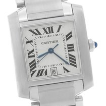 Cartier ank Francaise Full-Size Automatic Stainless Date Watch