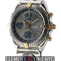 Breitling Chronomat Steel & Yellow Gold 41mm UTC Grey Dial...