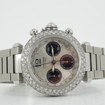 Cartier Pasha chronograph diamond bezel