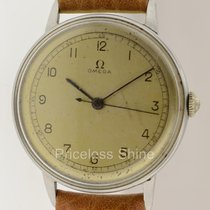 Omega Vintage Steel Manual Mechanical Watch With Center...