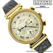 IWC Cronografo 3739 Yellow Gold 18KT Full Set Like New 1990