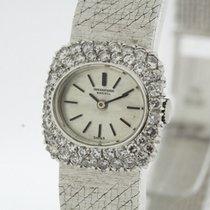 IWC Vintage Ladies solid 18K White Gold Watch Diamonds Bezel...