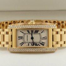 Cartier Tank Americaine Yellow Gold Diamonds 35 x 19 mm (Full...