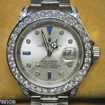 Rolex Submariner 16610 Steel Mens Watch Silver Serti Dial 9...