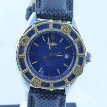 Breitling Lady J Damen Uhr + Gold Lünette +  Blau Rar Top...