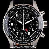 IWC S/S Unworn Pilots Watch Timezoner Chronograph B&P...