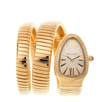 Bulgari New  Serpenti 18 K Yellow Gold Silver Quartz SP35C6GDG.2T