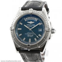 Breitling Windrider Headwind A45355 Blue Dial 44mm Day Date...