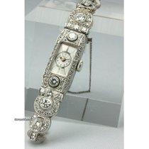 Art Deco Brillant-Platin-Damenarmbanduhr
