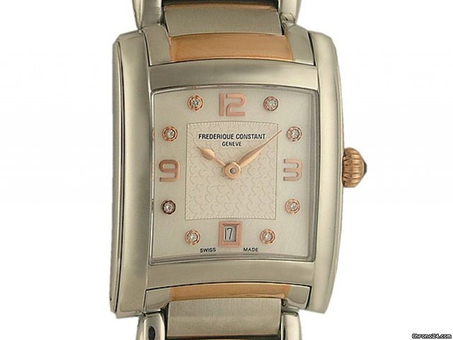 Frederique Constant Geneve Delight Stahl/Roségold Diamond 34x28mm