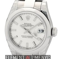 Rolex Datejust Lady Stainless Steel 26mm Silver Stick Dial...